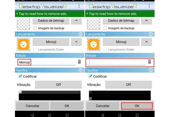 Como criar atalho invisível no Android - Passo 5