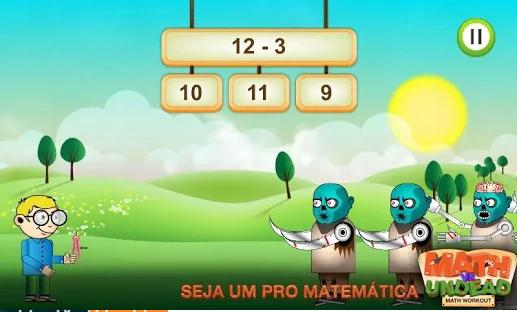 Jogo de matemática para Android