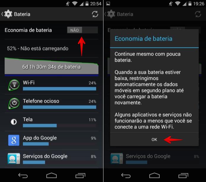 Economia de Energia Android